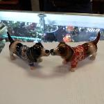 Kissing Basset Hound Magnetic Salt n Pepper Shaker Chotchkie from Home Fashions by Tiffany!
