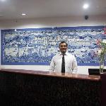 Entrance of Hotel Om Shiv