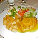 chicken fillet with orange & honey sauce