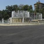 View of the fountain