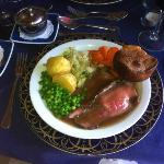 Sunday lunch - roast beef, yorkshire & vegetables