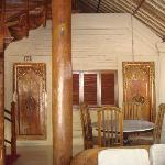 the suite terrace, made from good woods, balinese design