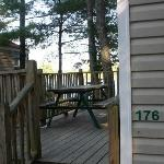 Our deck with unit number