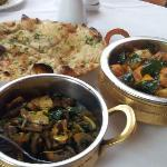 Main, side and naan