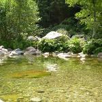 Rivière en bas du camping