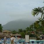 Amazing mountain seen from resort