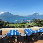 vistas del lago y volcanes