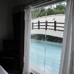 View from Junior suite with pool access