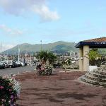Hendaye, the harbour, and spanish hills in Background