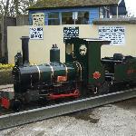 Steam Train Alice on turntable at Trago Mills