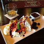 Fruit Pavlova dessert