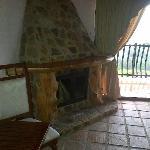 La chimenea es absolutamente funcional, además de decorativa