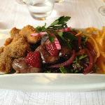 insalata del Perigord rivisitata dallo chef