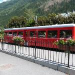 el tren que va hasta el glaciar
