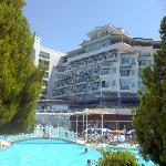 view of the pool and the Hotel
