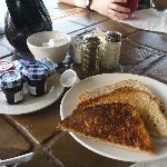 Breakfast items at Pallapa's