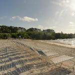 Sun chairs at Grand Isle beach