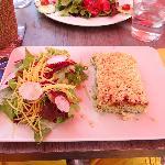 crumble de chèvre chaud et salade