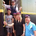 All aboard with Conductor James