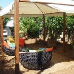 Un angolo relax nel giardino