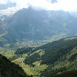 The view down to Grindelwald