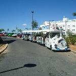 Hotel train that goes to the local beach