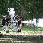 Labor Day cannon firings at Ft Morris Sept 3, 2012, 11 - 3 pm