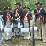 The Ft Morris mighty cannon crew representing the 2nd Co of Ga Artillery