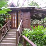 Outside view of banana cottage