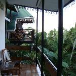 terrasse devant notre chambre