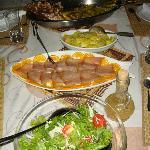 delicieux repas concocté par Lorna