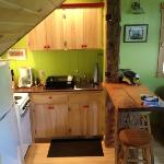 kitchen area in the Irish Farmhouse