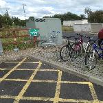 Bicycle stand Shannon McDonalds opposite to petrolstation