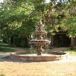 Courtyard fountain, morning light