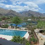 lap pool and tennis courts