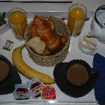Breakfast provided in hallway (we purchased banana)