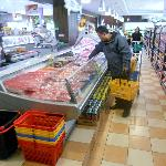 all sorts of fish and meats