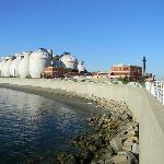 Harborwalk around treatment plant