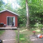 Our cabin and lot. Beautiful!