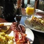 Breakfast buffet at The Prairie Café