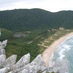 Vista da Lagoinha do Leste do Morro da coroa
