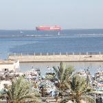 Room's window view - Suez Canal &Fishermen Jetty