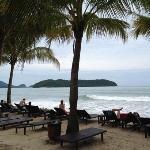 Het privé strand behorend bij dit resort
