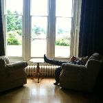 outlook from the sitting room - Manor hall