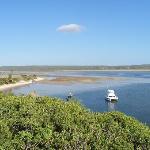 Calm, tidal estuary