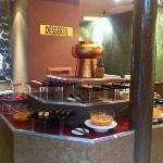 massive dessert counter