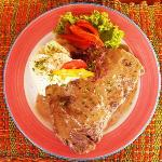 Steak in pepper sauce