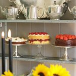 Our fabulous cakes on display in The Parlour