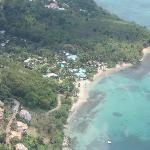 East Winds Inn from the air