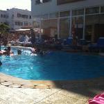 heerlijk bij het zwembad